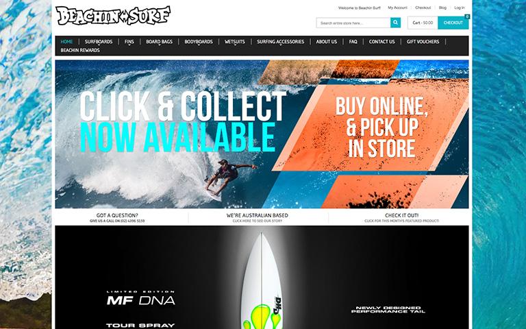 Myadd Digital client Beachin Surf