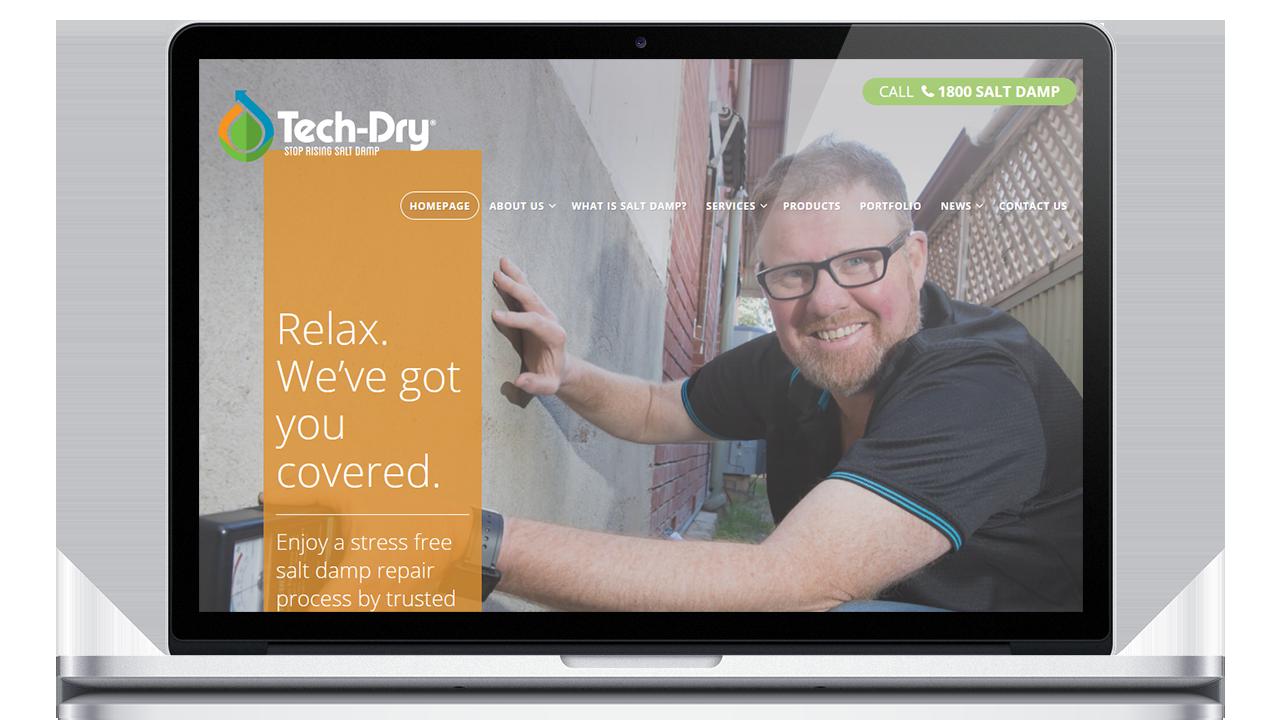 myadd digital tech dry project on laptop